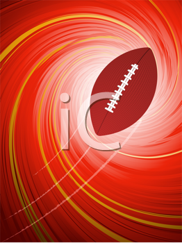 Royalty Free Clipart Image of a Rugby Ball Background