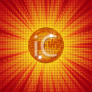 Royalty Free Clipart Image of a Sparkling Disco Ball Background