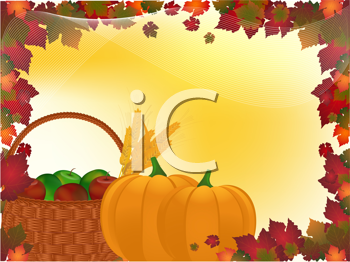 Royalty Free Clipart Image of a Harvest Background