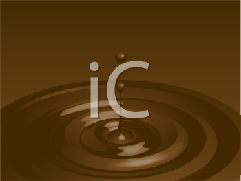 Royalty Free Clipart Image of a Liquid Chocolate Background