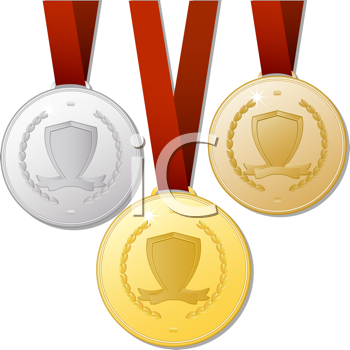 Royalty Free Clipart Image of Medals