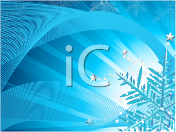 Royalty Free Clipart Image of a Blue Snowflake Background