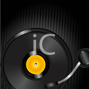 Royalty Free Clipart Image of a Turntable