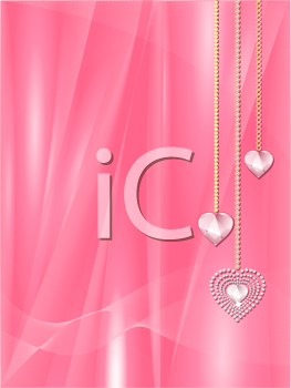 Royalty Free Clipart Image of Dangling Heart Pendants