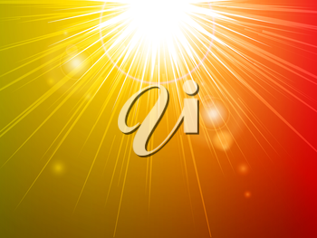 Royalty Free Clipart Image of a Glowing Light