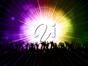 Royalty Free Clipart Image of a Party Background
