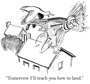 Tomorrow I will teach you how to land.