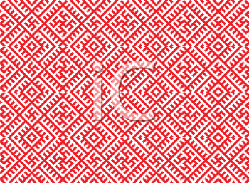Royalty Free Clipart Image of a Red and White Patterned Background
