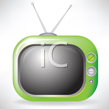 Royalty Free Clipart Image of a Television
