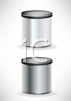 two cans with cap siolated