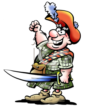 Royalty Free Clipart Image of a Scottish Soldier