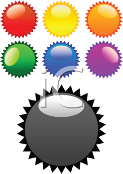 Royalty Free Clipart Image of Glossy Stickers