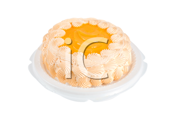 Royalty Free Photo of an Orange Cake