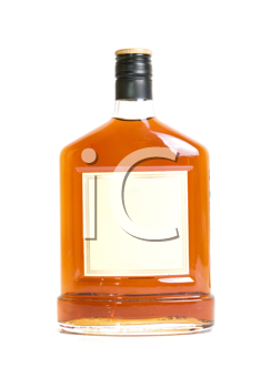 cognac bottle isolated on a white background