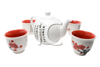 Royalty Free Photo of a Teapot and Glasses