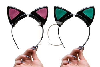 Royalty Free Photo of Cat Ear Costumes