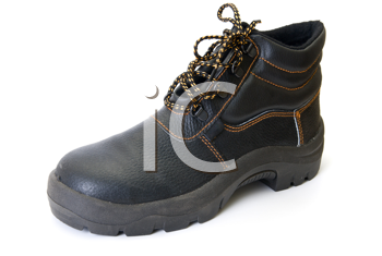 modern working boot isolated on a white background