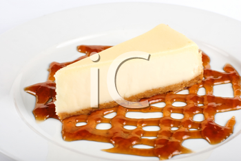 Royalty Free Photo of a Piece of Cheesecake
