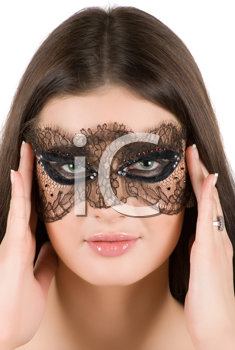 Royalty Free Photo of a Woman Wearing a Mask