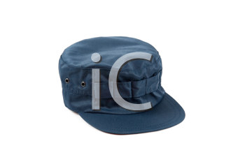 blue work cap isolated on a white
