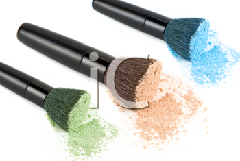 Royalty Free Photo of a Set of Cosmetic Brushes