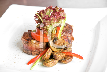 Royalty Free Photo of Steak and Vegetables