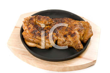 Royalty Free Photo of Grilled Chicken in a Pan