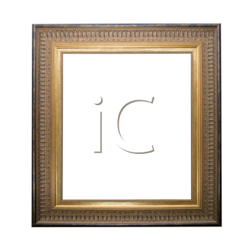 golden pictute frame isolated on a white background