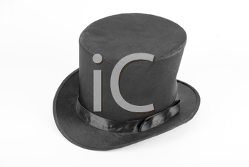 Royalty Free Photo of a Black Top Hat
