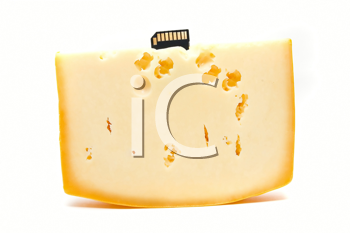 Royalty Free Photo of a Flash Drive in Cheese