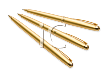 Royalty Free Photo of Gold Pens