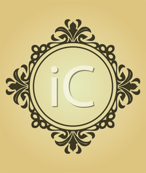 Royalty Free Clipart Image of a Victorian Frame