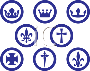 Royalty Free Clipart Image of a Religious Symbols