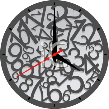 Royalty Free Clipart Image of a Clock