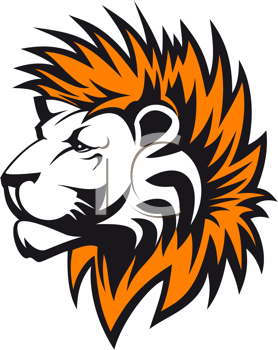Royalty Free Clipart Image of a Lion Head