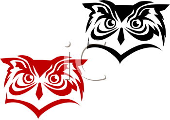 Royalty Free Clipart Image of Two Owls