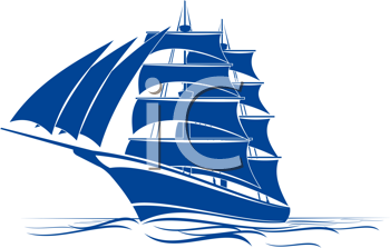 Royalty Free Clipart Image of a Ship
