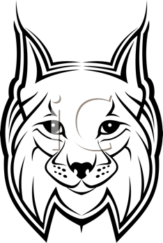 Royalty Free Clipart Image of a Lynx Head
