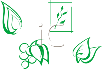 Royalty Free Clipart Image of Nature Elements
