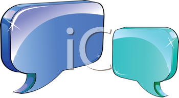 Royalty Free Clipart Image of Speech Icons