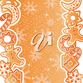 Gingerbread background for christmas or new year holiday design