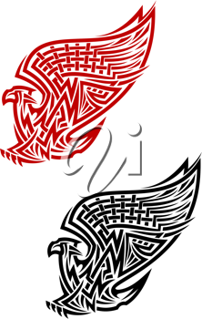 Griffin symbol in celtic style for tattoo or heraldry design