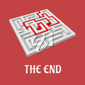 Labyrinth without exit as the end concept for business design