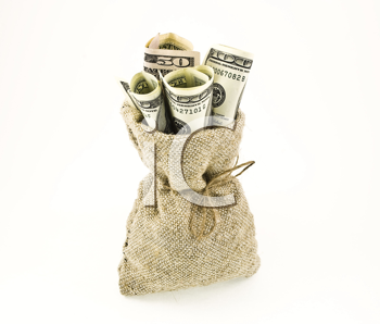 Royalty Free Photo of a Sack of Money