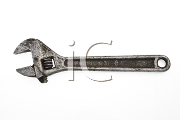 Rusty metal screw-wrench