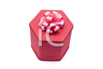 Royalty Free Photo of a Red Gift Box With Bow