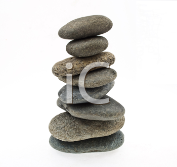 Royalty Free Photo of a Stack of Pebble Stones
