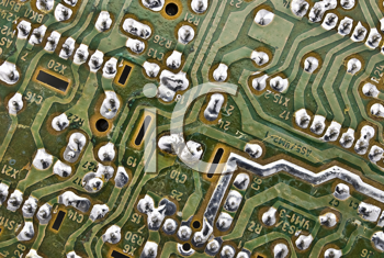 Royalty Free Photo of an Electronic Circuit Plate Background