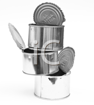 Royalty Free Photo of Empty Tin Cans