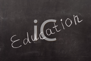 Royalty Free Photo of Education Written on a Chalkboard